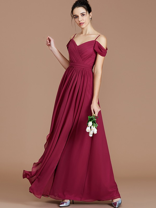 d1e0afdd57178 A-Line/Princess Ruched Off-the-Shoulder Sleeveless Floor-Length Chiffon
