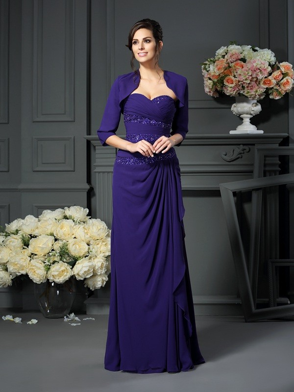 73ed3b50744a A-Line/Princess Beading Sweetheart Sleeveless Floor-Length Chiffon Mother  of the Bride