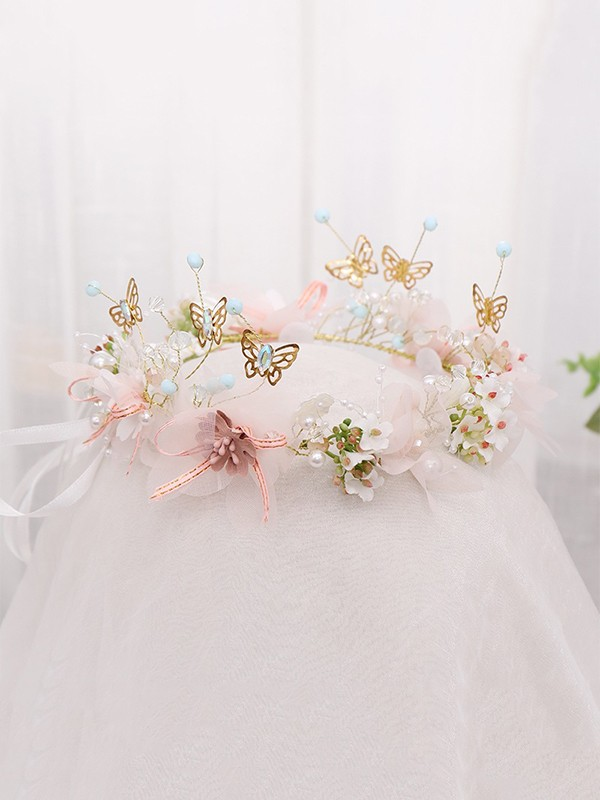Stunning Alloy With Butterfly Headbands