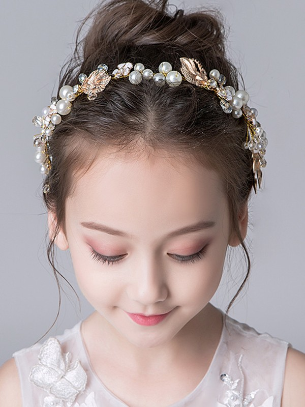 Gorgeous Alloy With Imitation Pearl Headbands