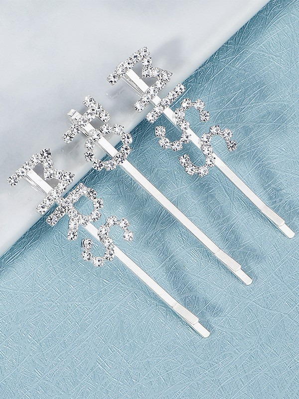 Stunning Alloy With Rhinestone Hairpins(3 Pieces)