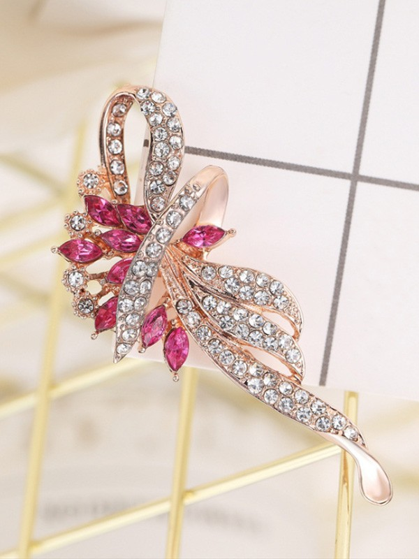 Fancy Alloy With Rhinestone Ladies' Brooch