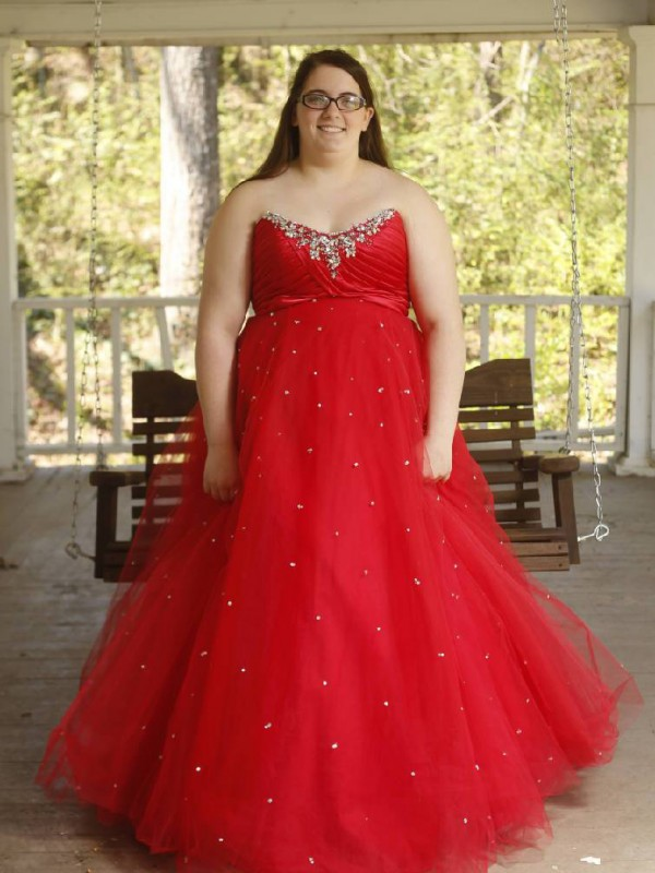 Ball Gown Beading Sweetheart Sleeveless Floor-Length Organza Plus Size Dresses