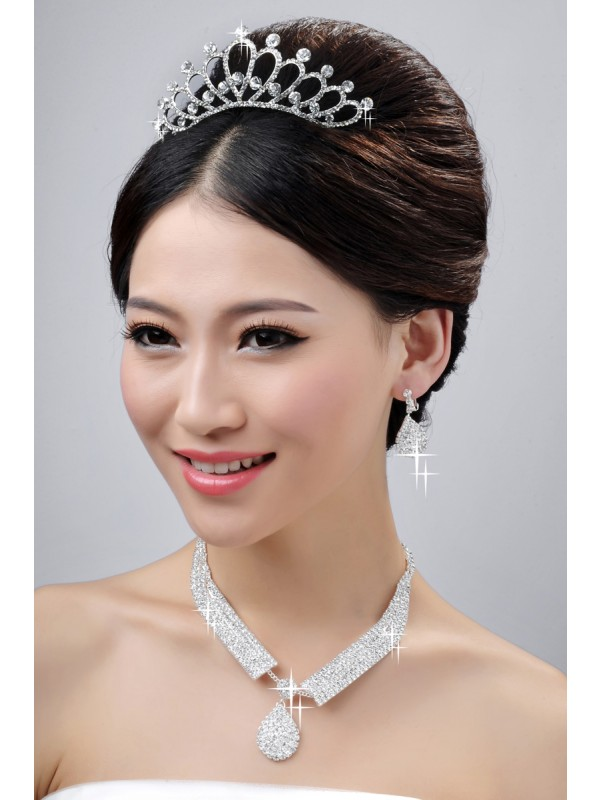 Nice Wedding Headpieces Necklaces Earrings Set