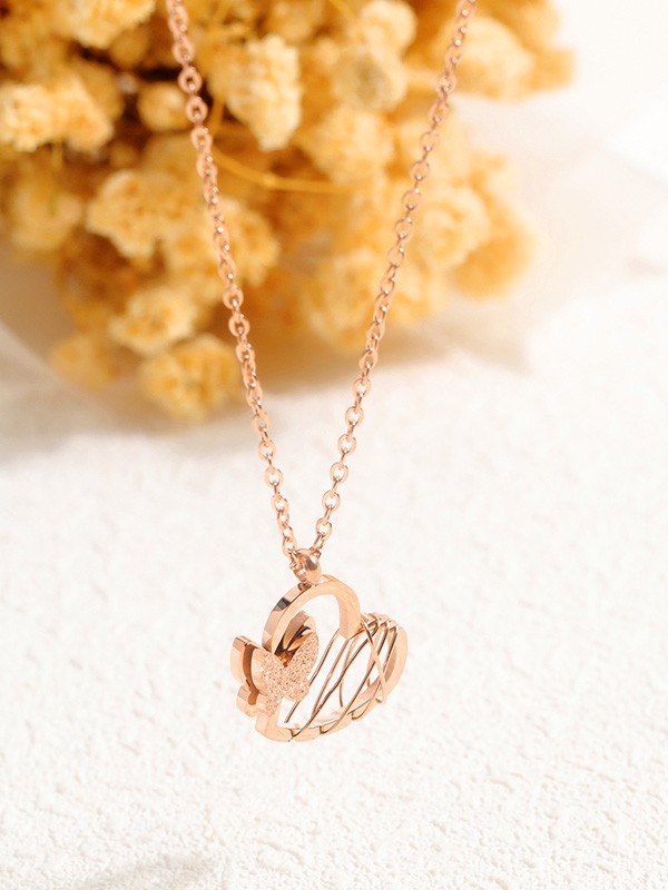Fashion Titanium With Butterfly/Heart Necklaces