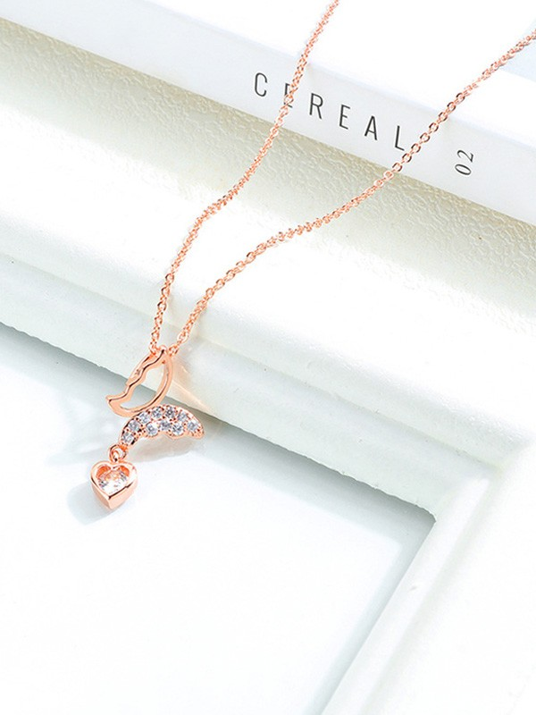 Beautiful Titanium With Butterfly/Heart Necklaces