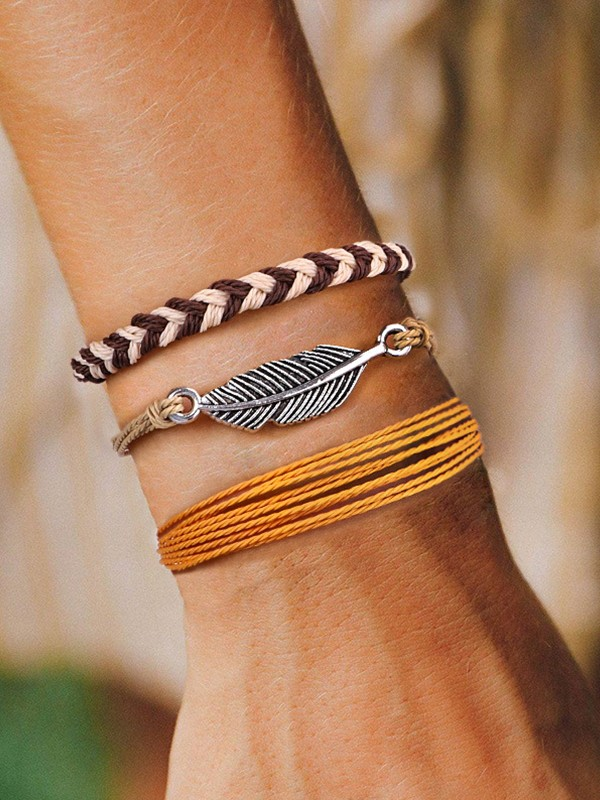 Outstanding Alloy With Leaf Hot Sale Bracelets(3 Pieces)