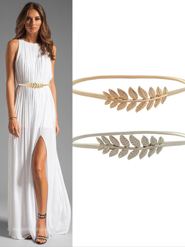 Simple Elastic Metal Sashes With Leaves