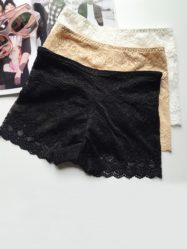 Sexy Women's Lace Elastic Safety Pants/Safety Shorts