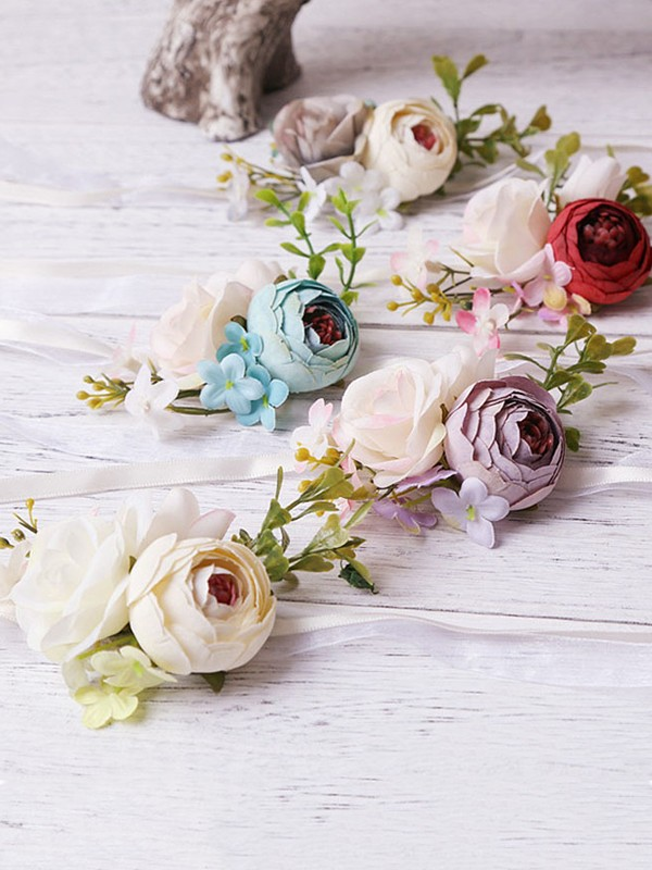 Pretty Artificial Flower Wrist Corsage