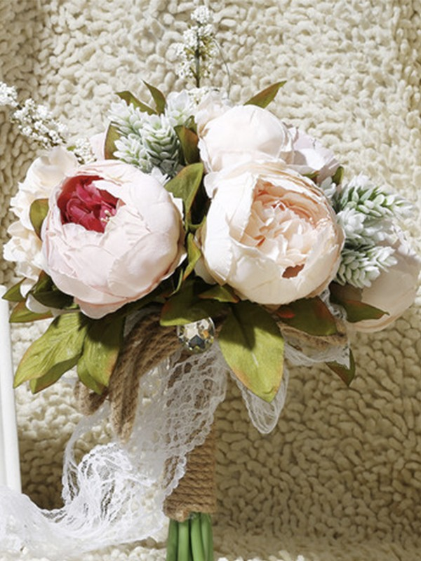 Graceful Free-Form Artificial Flower Bridal Bouquets