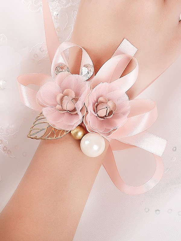 Girly Silk Flower Wrist Corsage