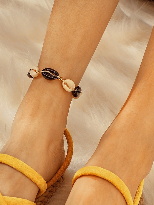 Extraordinary Shell Alloy Anklets