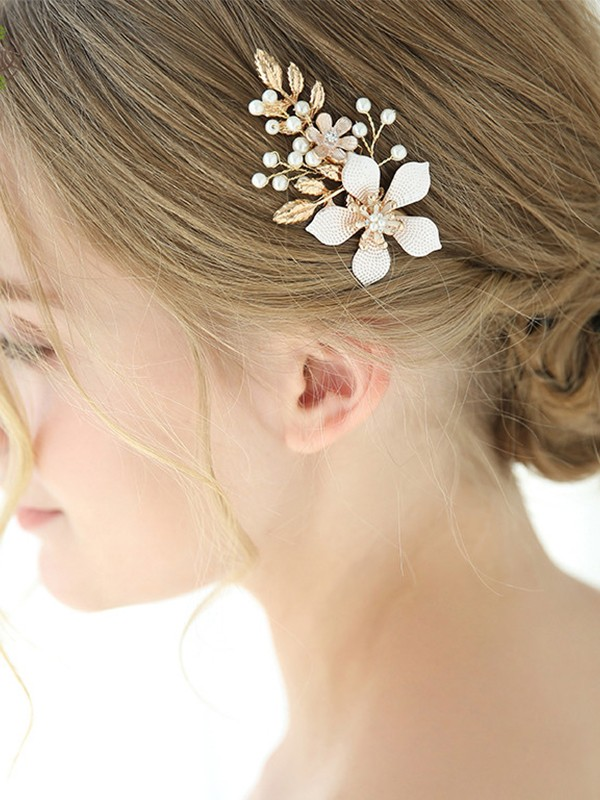 Glamorous Alloy With Imitation Pearl/Flower Headpieces