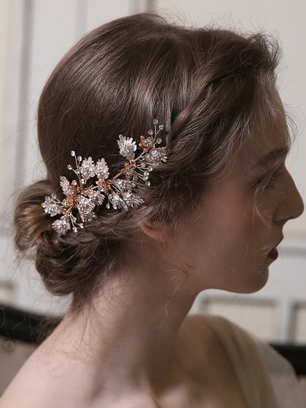 Special Alloy With Rhinestone Headpieces