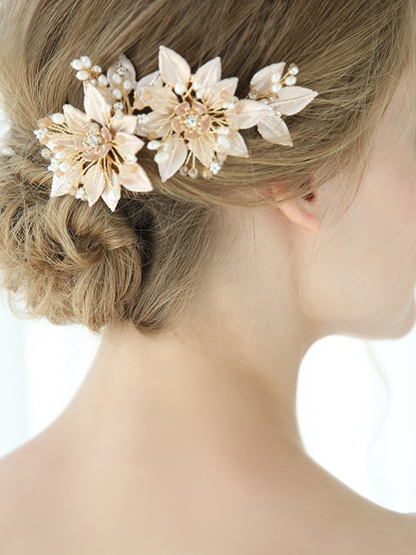 Elegant Alloy With Flower Headpieces