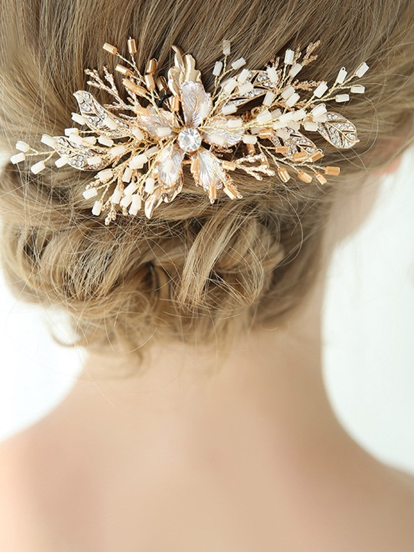 Brilliant With Flower Alloy Headpieces