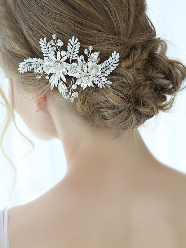 Trending With Flower Alloy Headpieces