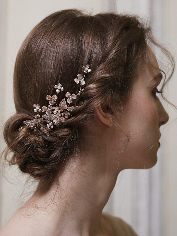 Fineness Alloy With Pearl Headpieces