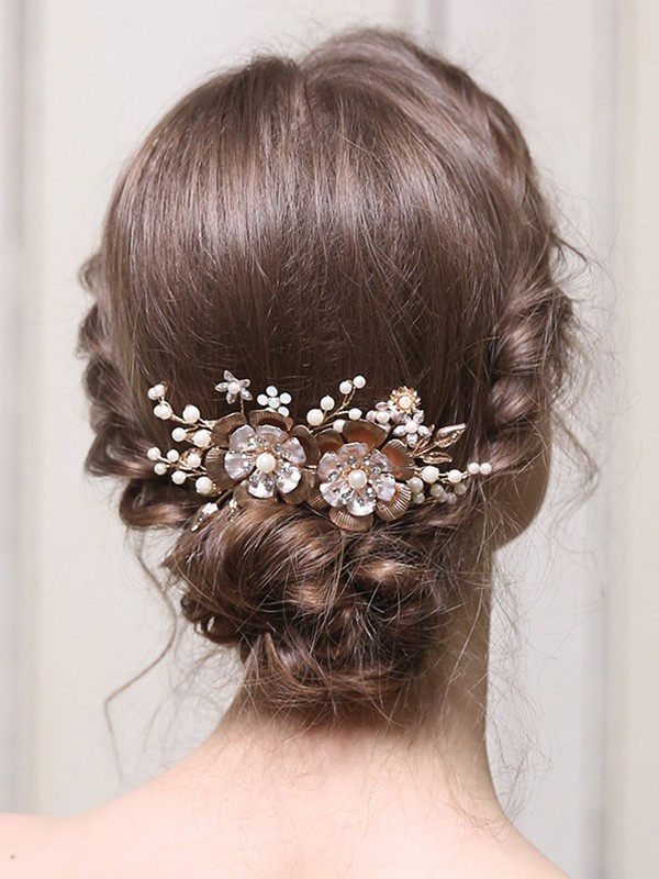 Glamorous Alloy With Pearl Headpieces