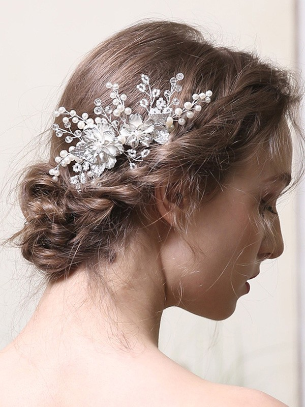 Delicate Alloy With Pearl Headpieces