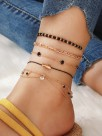 Fascinating Fish Alloy Anklets(5 Pieces)