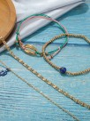 Elegant Shell Alloy Anklets(4 Pieces)