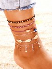 Pretty Eye Alloy Anklets(6 Pieces)