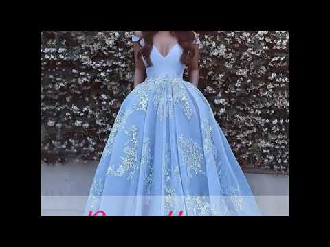 Ball Gown Sleeveless Off-the-Shoulder With Applique Tulle Sweep/Brush Train Dresses